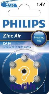 ZA10 Bateria Zn-air 1.4V 90mAh Philips (6szt.) aparatów słuchowych