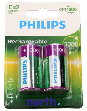 R14 Akumulator 1.2V 3000mAh Philips (2szt.)