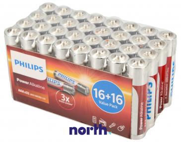 R3 | LR3 | MN2400 Bateria AAA alkaliczna (Power Alkaline) 1.5V Philips (32szt.)