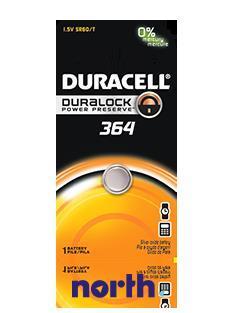 V364 | SR60 | 364 Bateria srebrowa 1.5V Duracell (1szt.)