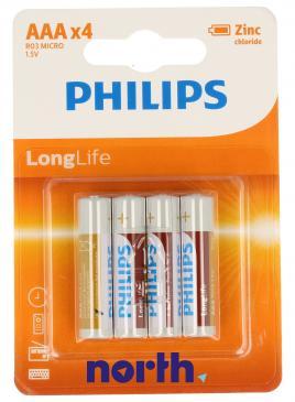 R3 | LR3 | MN2400 Bateria AAA cynkowo-węglowa (LongLife) 1.5V Philips (4szt.)