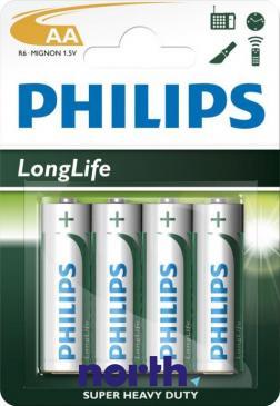 R6 | LR6 | Bateria AA (LongLife) 1.5V Philips (4szt.)