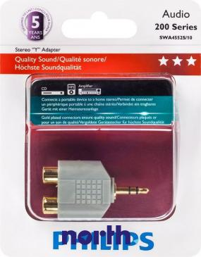 Kabel JACK 3.5mm - CINCH (wtyk/ gniazdo x2) SWA4552S10