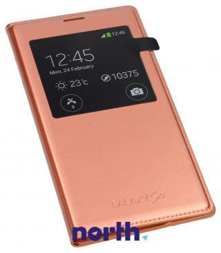 Pokrowiec | Etui S View do smartfona Samsung Galaxy S5 EFCG900BFEGWW (złoty róż)