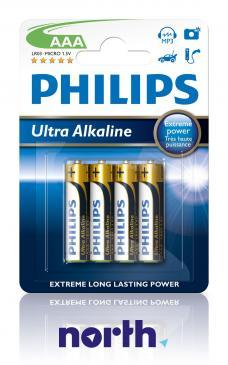 R3 | LR3 | MN2400 Bateria AAA alkaliczna (Ultra Alkaline) 1.5V Philips 4szt.