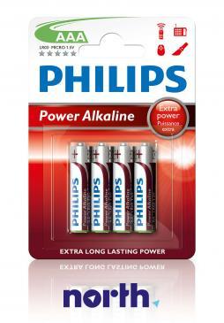 R3 | LR3 | MN2400 Bateria AAA alkaliczna (Power Alkaline) 1.5V Philips (4szt.)