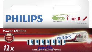 R3 | LR3 | MN2400 Bateria AAA alkaliczna (Power Alkaline) 1.5V Philips (12szt.)