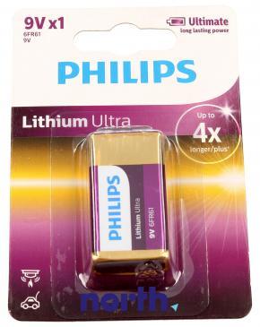 6F22 | 6LR61 | Bateria litowa 9V Philips (1szt.)