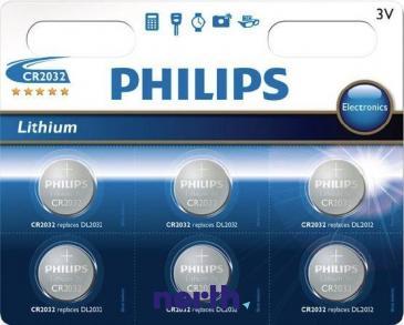 CR2032 | DL2032 | Bateria litowa 3V 210mAh Philips (6szt.)