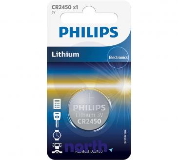 CR2450 | DL2450 | Bateria 3V 600mAh Philips (1szt.)