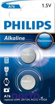 A76 | LR44 | V13GA Bateria alkaliczna manganowa 1.5V 145mAh Philips (2szt.)