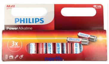 R6 | LR6 | Bateria AA (Power Alkaline) 1.5V Philips (12szt.)