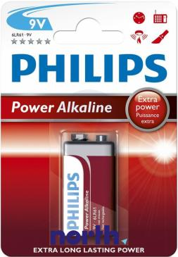 6F22 | 6LR61 | Bateria alkaliczna 9V Philips (1szt.)