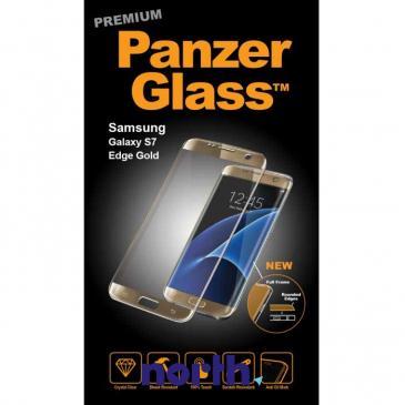 Szkło hartowane wyświetlacza do smartfona Samsung Galaxy S7 Edge PanzerGlass (złota) 1049