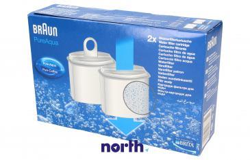 Filtr wody PureAqua do ekspresu do kawy Braun 0X63112770 2szt.