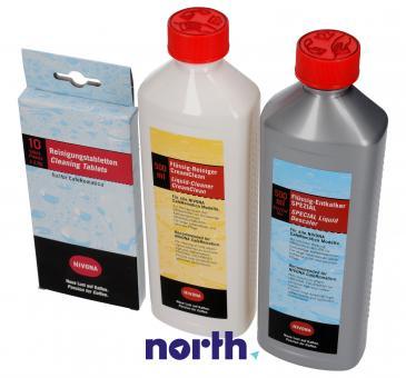 Zestaw | Odkamieniacz + płyn do czyszczenia modułu mlecznego + tabletki czyszczące (zestaw) do ekspresu do kawy