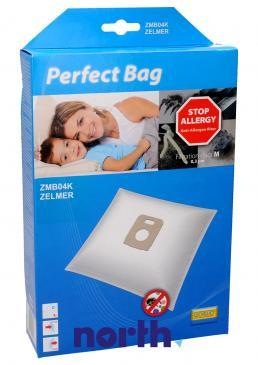 Worki Perfect Bag Worwo 900F (4szt.) + filtr wlotowy / wylotowy (2szt.) do odkurzacza Zelmer ZMB04K