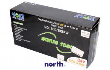 SINUS1000 24V przetwornica 24V/230V 1000W/750W czysty sinus
