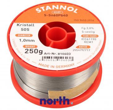Cyna 1mm 250g Stannol - 60/40 Krystall