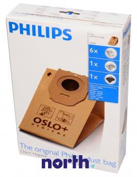 Worek Oslo do odkurzacza HR6938 Philips 6szt. (+2 filtry)