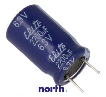 2200uF   6.3V Kondensator elektrolityczny 85°C 30031825 40mm/25mm