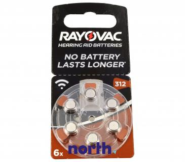 V312 Bateria Zn-air 1.4V 180mAh (6szt.) aparatów słuchowych