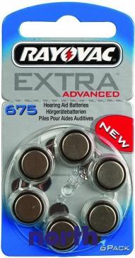 V675 Bateria Zn-air 1.4V 640mAh (6szt.) aparatów słuchowych