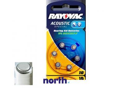 PR70 Bateria Zn-air 1.4V 105mAh Rayovac (6szt.) aparatów słuchowych