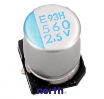 560uF | 2.5V Kondensator elektrolityczny 105°C SMD 7.7mm/6.3mm