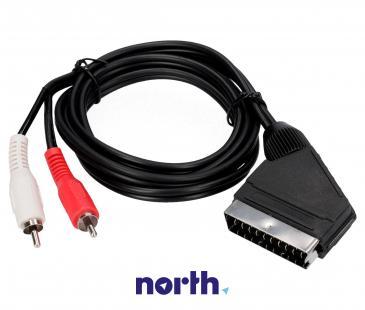 Kabel 1.5m SCART - CINCH (wtyk/ wtyk x2) standard