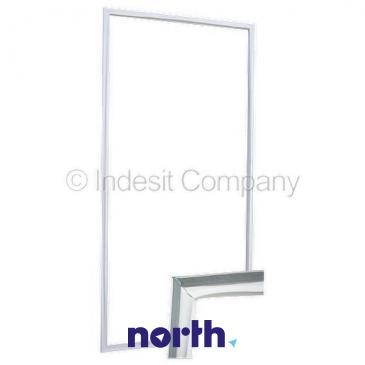 Uszczelka drzwi chłodziarki do lodówki Indesit 482000026354