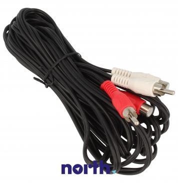 Kabel CINCH 5m (gniazdo x2/ wtyk x2)