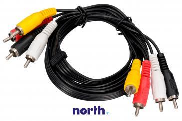 Kabel CINCH 1.5m (wtyk x4/ wtyk x4)