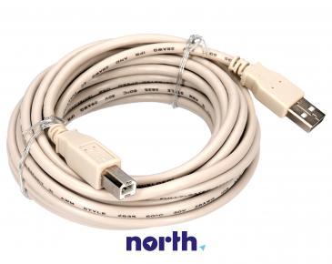 Kabel USB 5m USB A - USB B (wtyk/ wtyk) standard