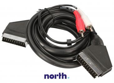 Kabel 1.5m SCART - SCART (wtyk//CINCH wtyk/wtyk x2) standard