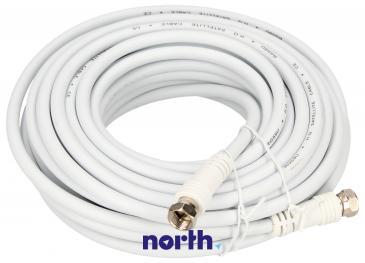 Kabel antenowy Złącze F 10m (wtyk/wtyk) standard