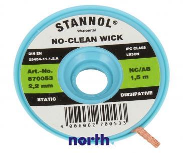 2.2mm Taśma do rozlutowywania Stannol (1.5m)