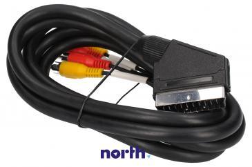 Kabel 2m SCART - CINCH (wtyk/ wtyk x2)