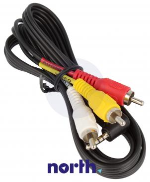 Kabel 1.5m CINCH - JACK (wtyk x3/3.5mm 4 pin wtyk)
