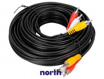Kabel CINCH 10m (wtyk x3/ wtyk x3)