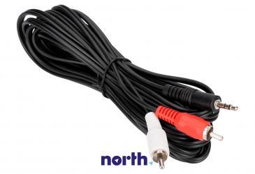 Kabel 5m CINCH (wtyk x2) - JACK 3.5mm stereo (wtyk) standard