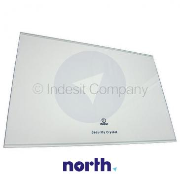 Szyba   Półka szklana chłodziarki (bez ramek) do lodówki Indesit 482000028023
