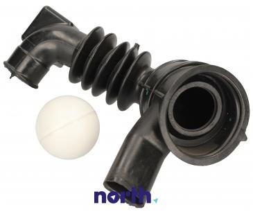 Rura | Wąż połączeniowy bęben - pompa gumowy oko ball - system odzyskiwania detergentu do pralki Indesit C00092174