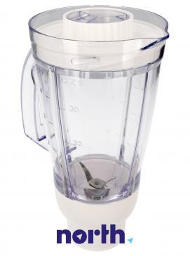 Dzbanek | Pojemnik biały blendera kompletny do robota kuchennego Moulinex MS5A12150