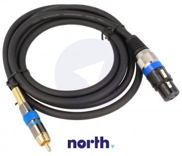 Kabel XLR - CINCH 2m (gniazdo/ wtyk) standard