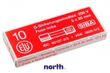 2.5A F Bezpiecznik szybki (20mm/5mm) 10szt.