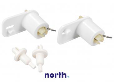 Zawias drzwiczek zamrażarki (prawy+lewy) zestaw do lodówki 2412865004
