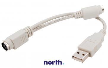 Kabel 0.2m USB A - PS2 (wtyk/ gniazdo x2) standard