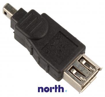 Adapter FireWire 4 pin - FireWire (wtyk/ 6 pin gniazdo)