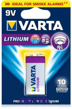 6F22 | 6LR61 | Bateria litowa 9V Varta (1szt.)